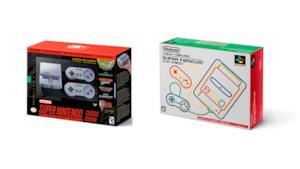 Le due versioni, americana e giapponese, del Super Nintendo Mini