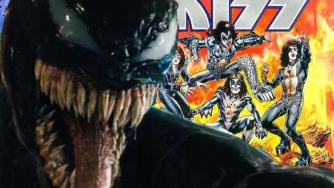 Venom e la copertina di un Marvel Special con i Kiss