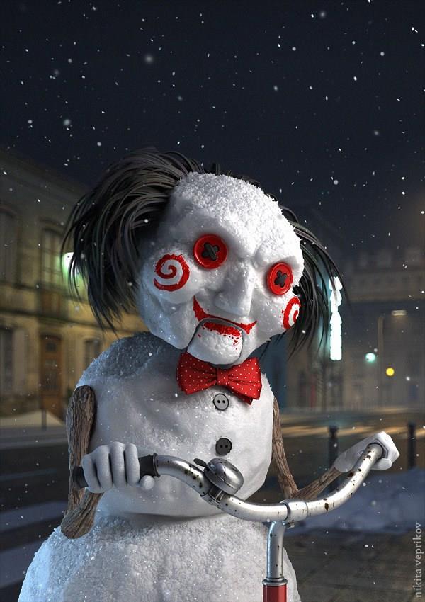 Jigsaw in versione pupazzo di neve
