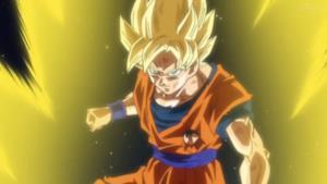 Goku trasformato in Super Saiyan