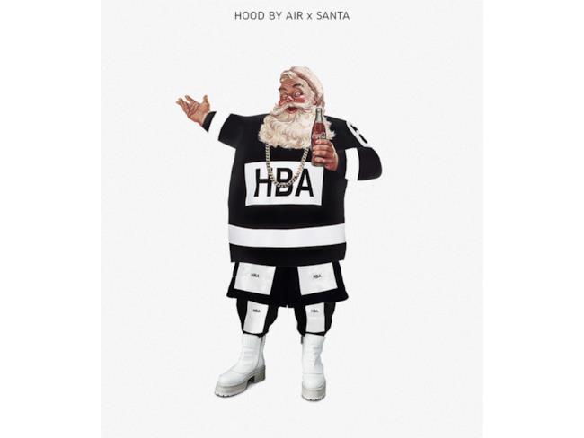 Babbo Natale vestito in stile Hood By Air