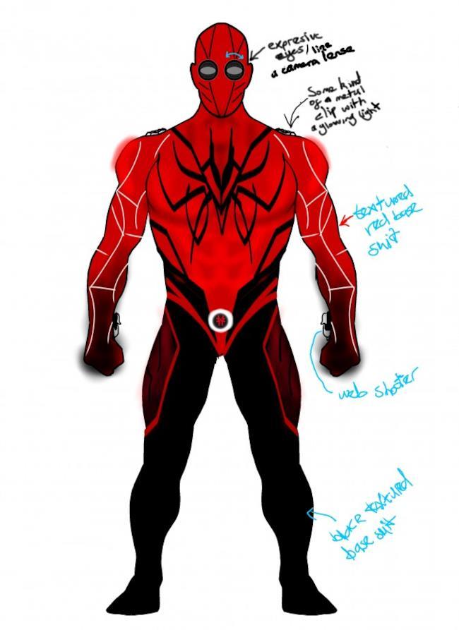 Uno dei possibili leak del costume che Tom Holland indosserà nel reboot di Spider-Man