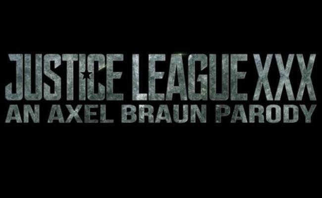 Il logo della parodia porno di Justice League