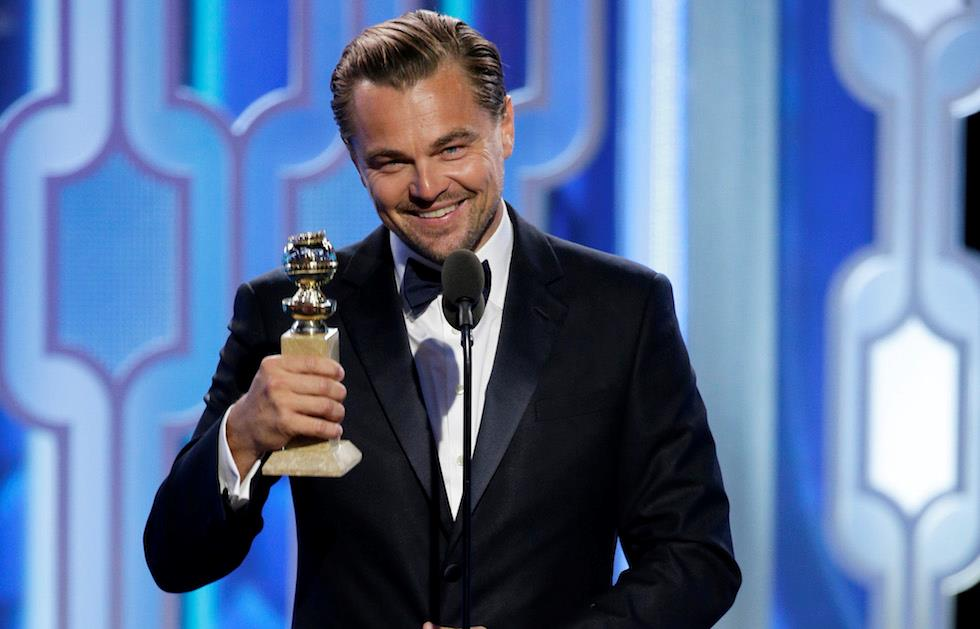 Leonardo Di Caprio premiato come miglior attore drammatico Golden Globes 2016
