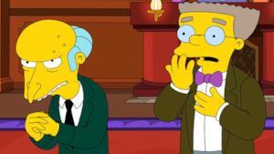 Il signor Burns e Waylon Smithers nei simpson