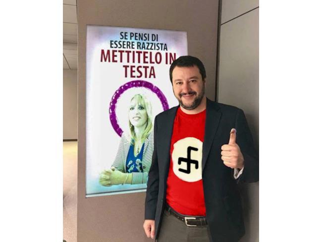 Meme di Salvini nazista