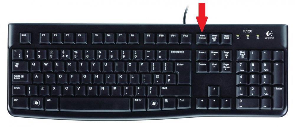 Una tastiera con evidenziato il tasto Print Screen - Come fare uno screenshot su PC
