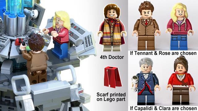 Alcuni dei possibili personaggi del set LEGO di Doctor Who