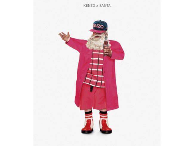 Babbo Natale vestito in stile Kenzo