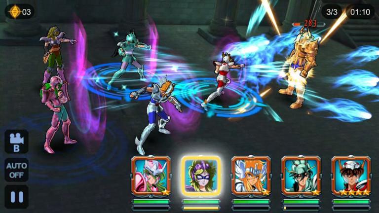 I cavalieri dello Zodiaco nel videogioco tratto dall'anime