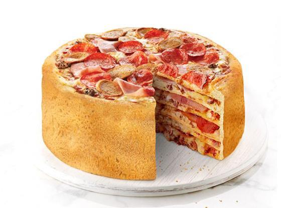 Immagine della nuova pizza cake a sei strati