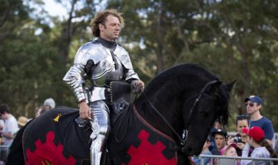 Sir Phillip Leitch col suo frisone nero