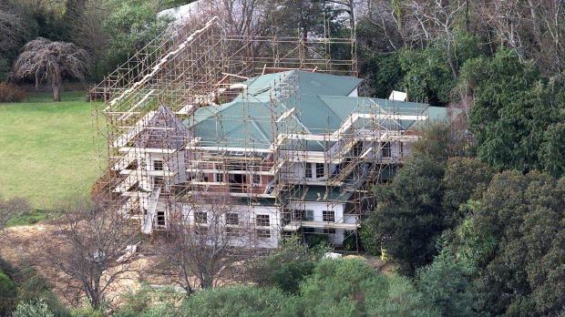 La villa di Peter Jackson durante i lavori