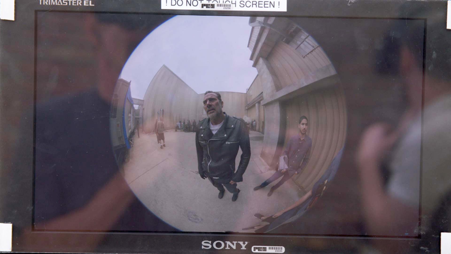 Negan nella scena presentata nella nuova app AMC VR