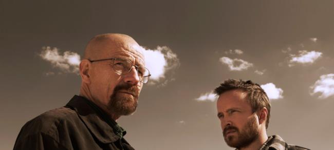 i due protagonisti della serie Breaking Bad