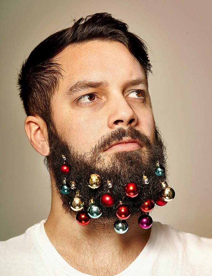 Le palline di Natale da barba