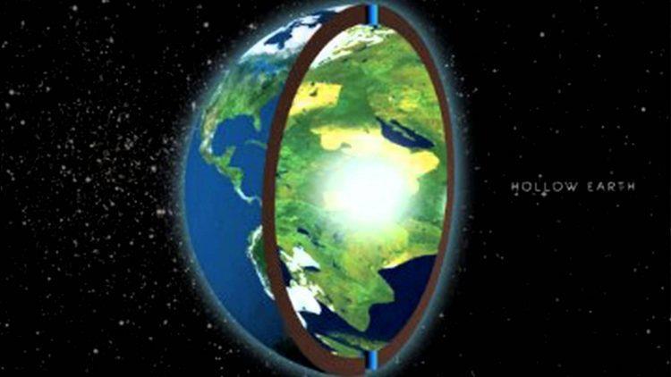 Un disegno della Terra cava