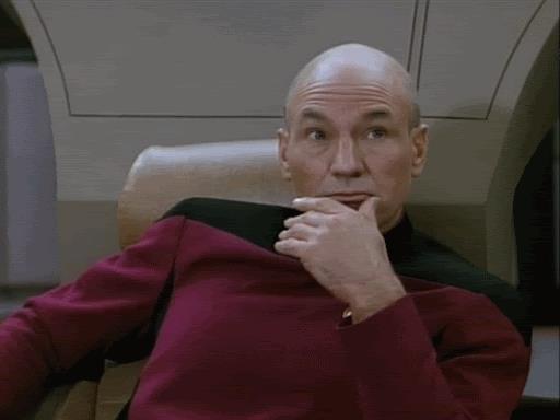 il comandante di Star Trek si vergogna - GIF di reazione ai commenti, le più divertenti da usare su Whatsapp e Facebook
