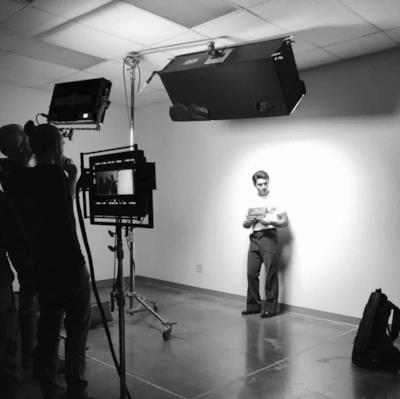 Zac Efron sul set