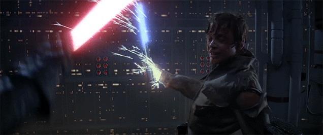 Luke Skywalker e Darth Vader
