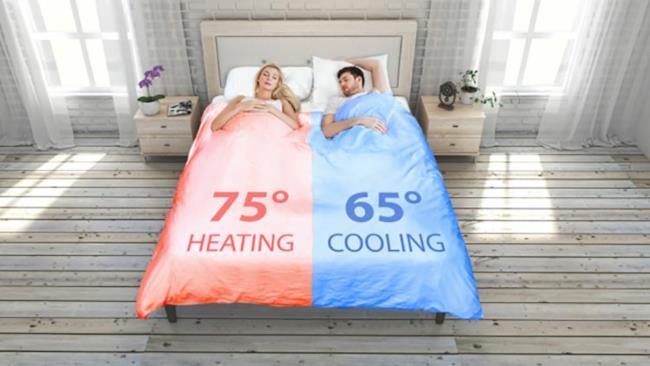 Il letto climatizzato all'opera