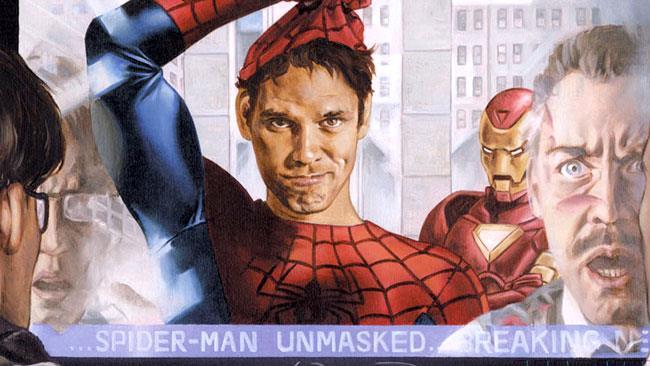 Spider-Man si toglie la maschera nei fumetti di Civil War