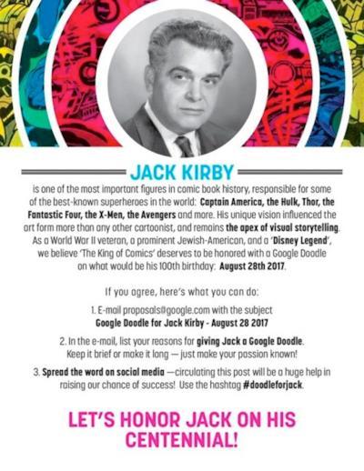 Una petizione in memoria del fumettista Jack Kirby