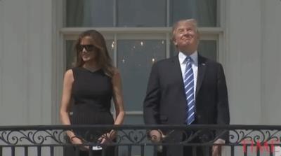 Donald Trump e sua moglie