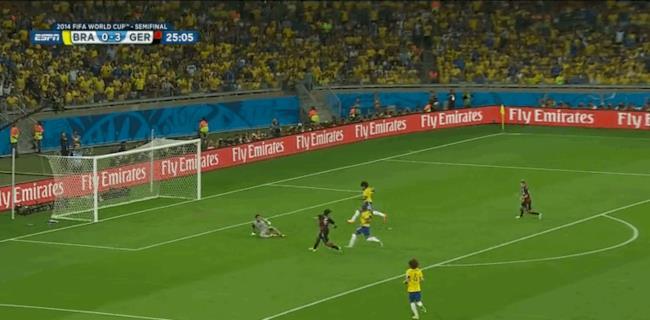 Goal di Toni Kroos contro il Brasile ai Mondiali 2014