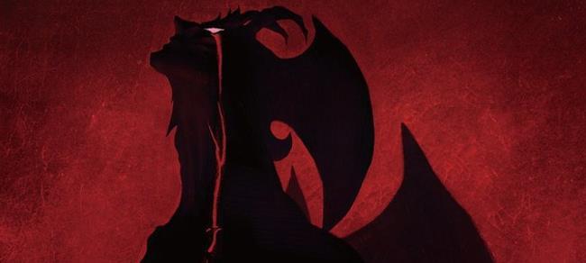 Il poster promozionale di Devilman