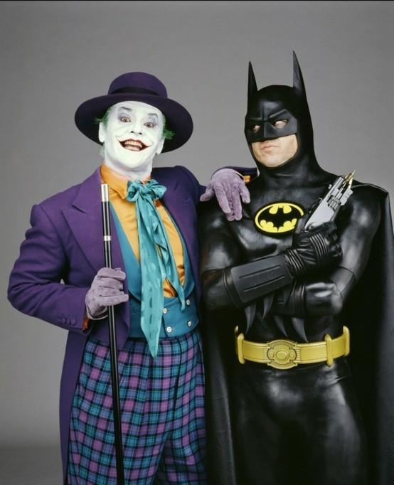 Jack Nicholson e Michael Keaton nel film Batman del 1989