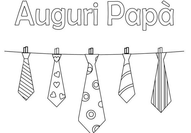 Un disegno con alcune cravatte - Immagini da scaricare per la Festa del Papà