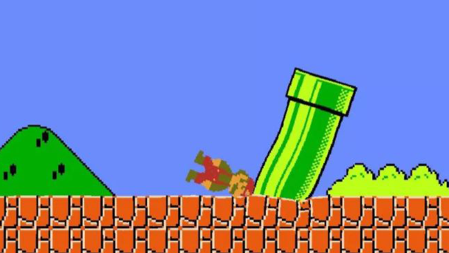 Super Mario contro le leggi della fisica in Jelly Mario