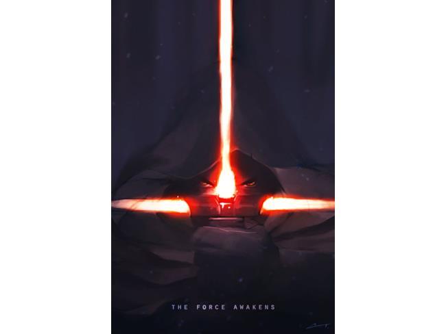 poster del nuovo cattivo in Star Wars 7