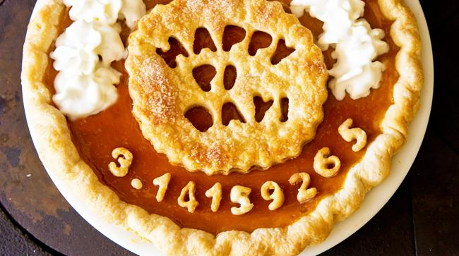 Torta in onore del Pi Day