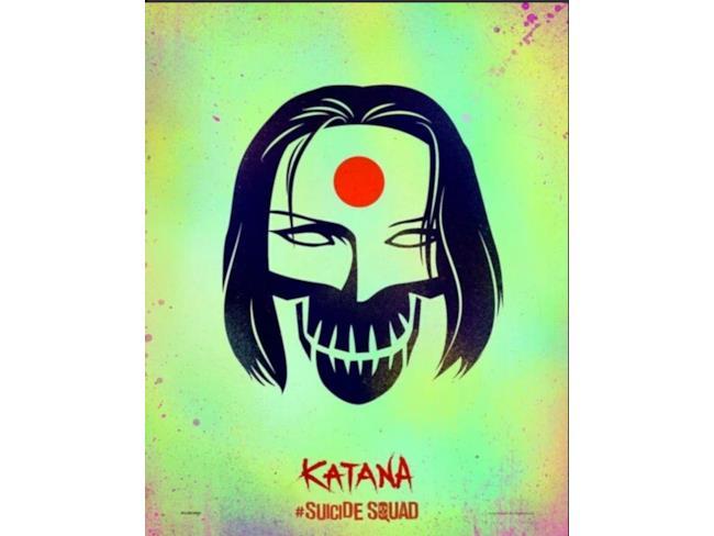 Il cartoon poster di Katana in Suicide Squad