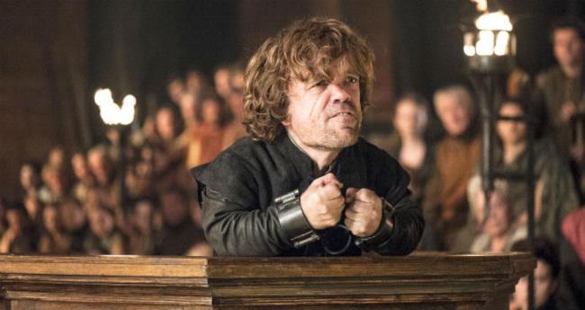 Tyrion Lannister nella scena del processo