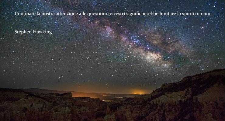 Una visone notturna del cielo - Le frasi più famose di Stephen Hawking da condividere