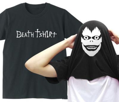Death Note presente nella collana di T-shirt.