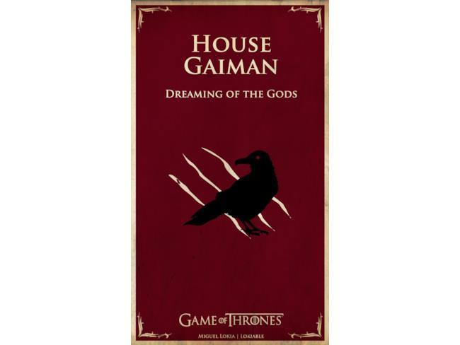 Il banner di Neil Gaiman in Game of Thrones