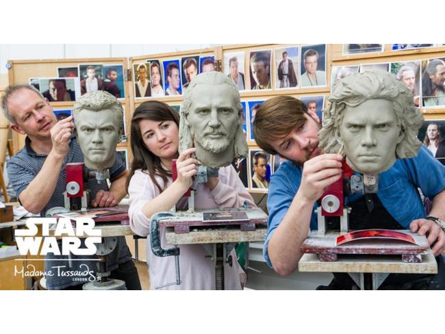 I volti di cera di Obi-Wan Kenobi, Qui-Gon Jinn, Anakin Skywalker