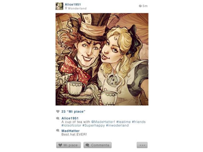 Foto che Alice potrebbe postare su Instagram