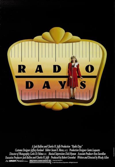 La locandina de Radio Days