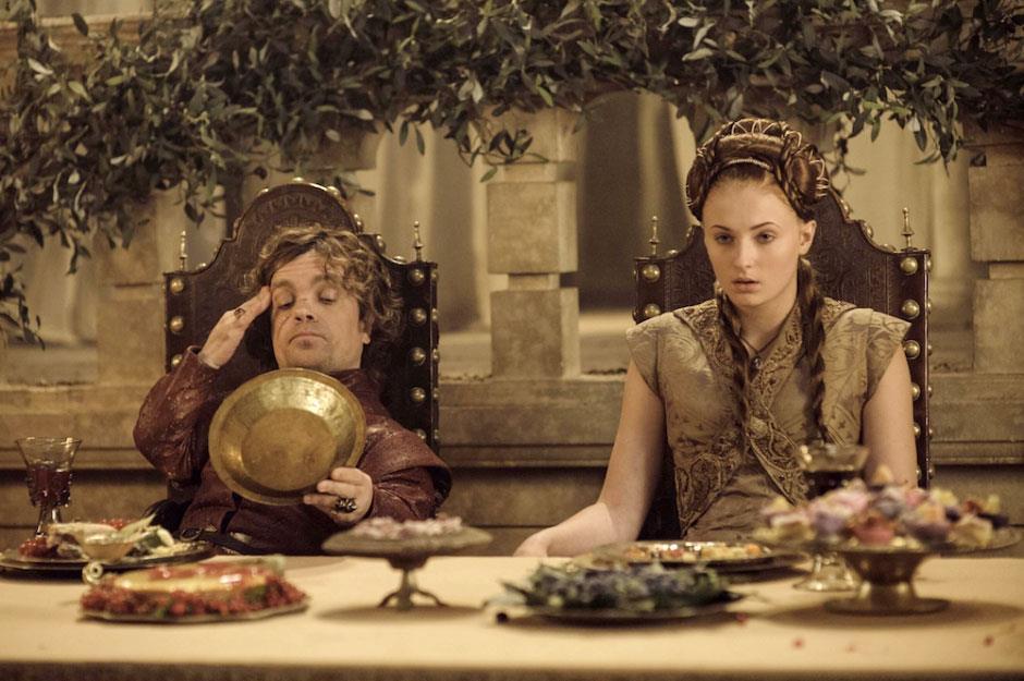 Sansa e Tyrion banchettano