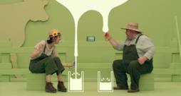 Due giocatori di Nintendo Switch che si sfidano a mungere più latte
