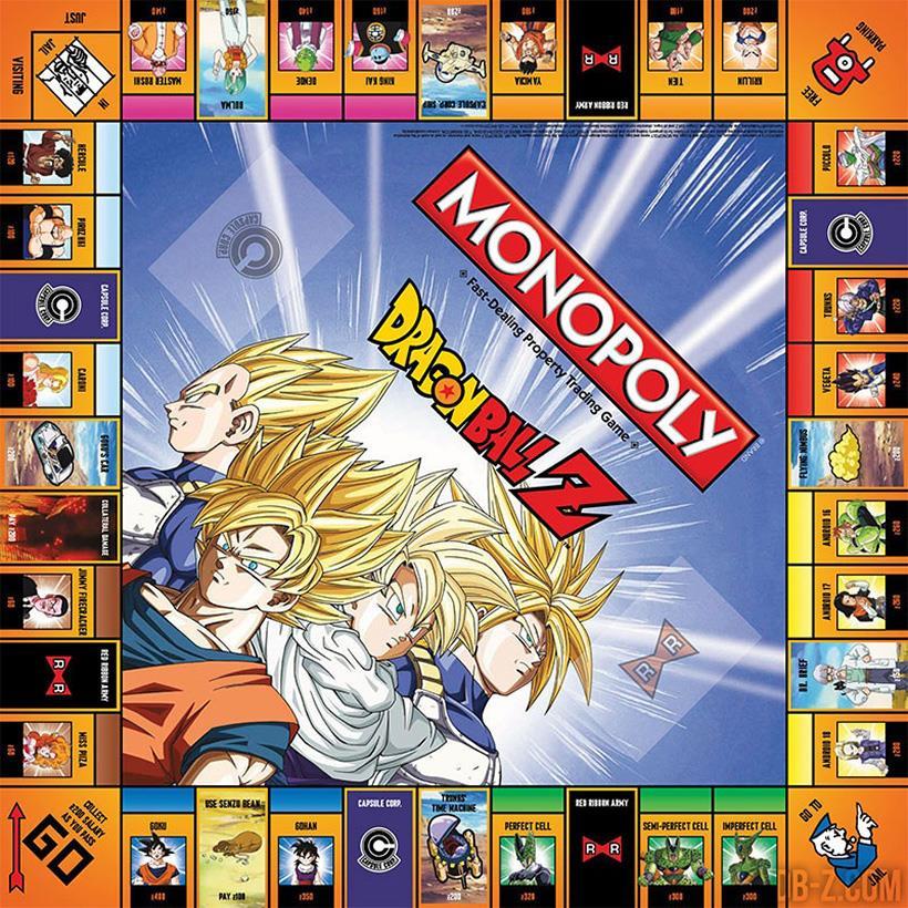 La superficie di gioco di Monopoly DragonBall Z