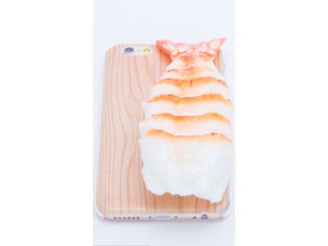 Case per iPhone con sushi finto sulla parte posteriore