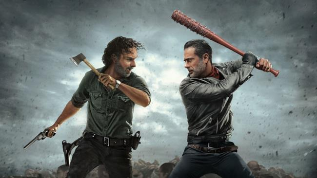 Rick Grimes contro il perfido Negan in The Walking Dead