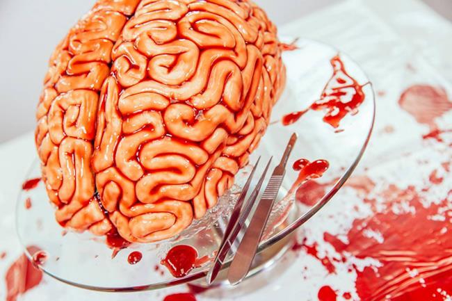 La torta-cervello di Halloween ispirata a The Walking Dead