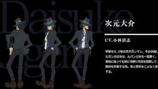 Il character design di Jigen nella nuova stagione di Lupin